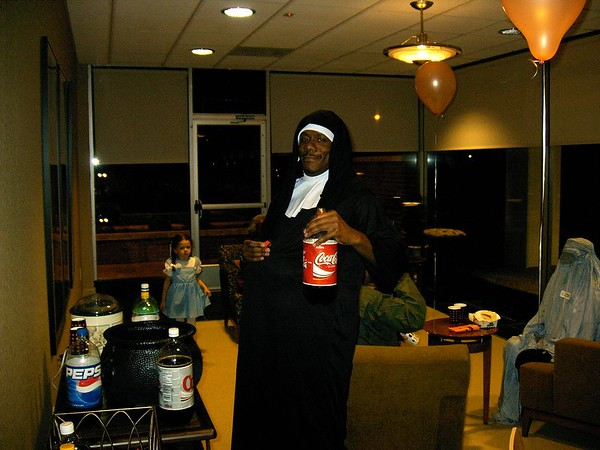 1st Halloween party at the Building 10/28